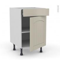 SILEN Argile - Meuble bas cuisine  - 1 porte 1 tiroir - L50xH70xP58 - droite