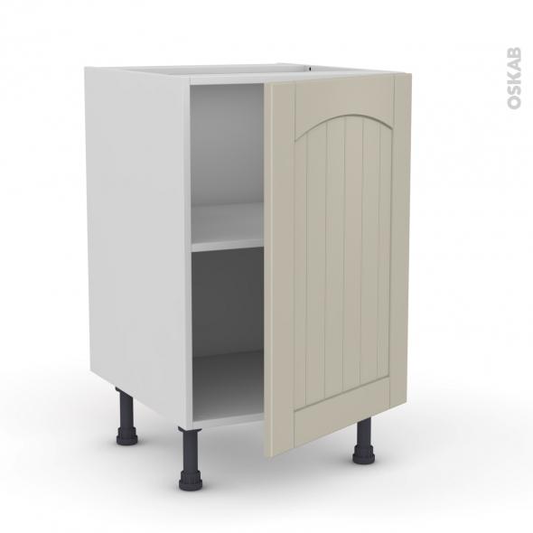 SILEN Argile - Meuble bas cuisine  - 1 porte - L50xH70xP58 - droite