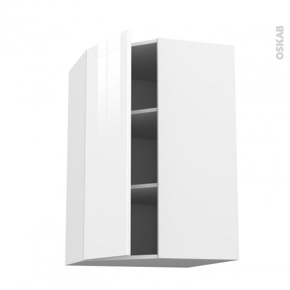 STECIA Blanc - Meuble angle haut  - 1 porte N°23 L40 - L65xH92xP37