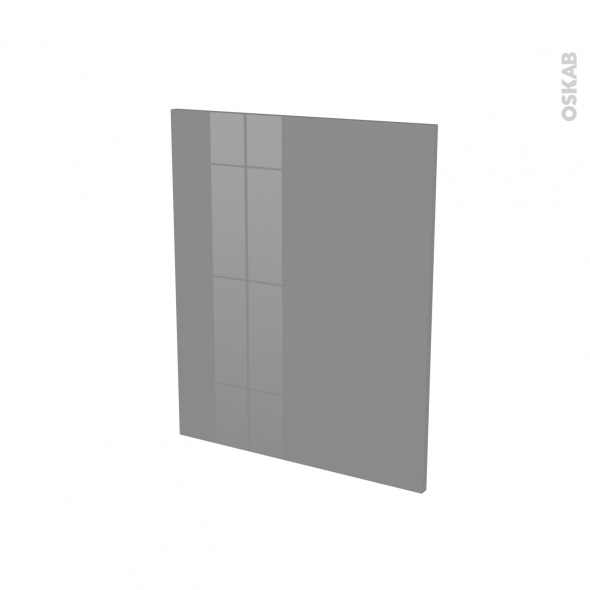 Finition cuisine - Joue N°29 - STECIA Gris - Avec sachet de fixation - L58 x H70 x Ep.1.6 cm