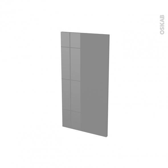 Finition cuisine - Joue N°30 - STECIA Gris - Avec sachet de fixation - A redécouper - L37 x H35 x Ep.1.6 cm