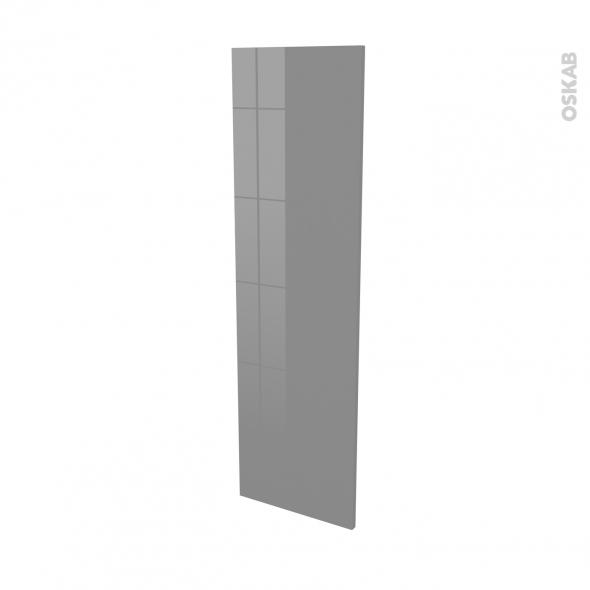 Finition cuisine - Joue N°34 - STECIA Gris - Avec sachet de fixation - L37 x H125 x Ep.1.6 cm