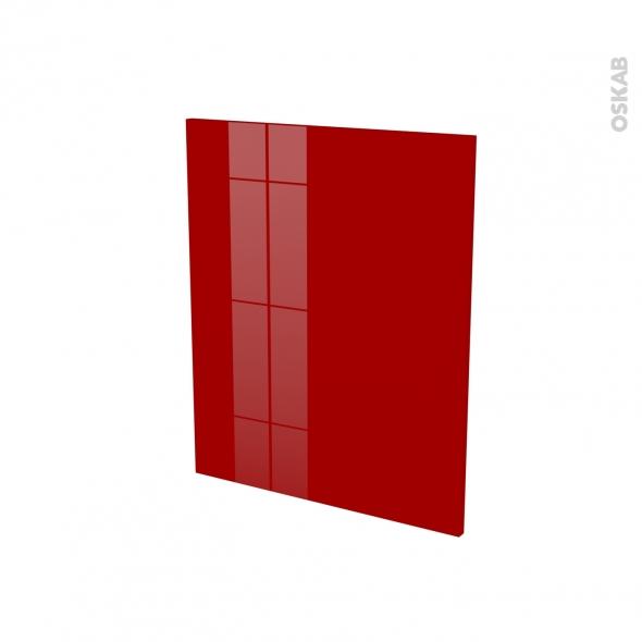 Finition cuisine - Joue N°29 - STECIA Rouge - Avec sachet de fixation - A redécouper - L58 x H57 x Ep.1.6 cm