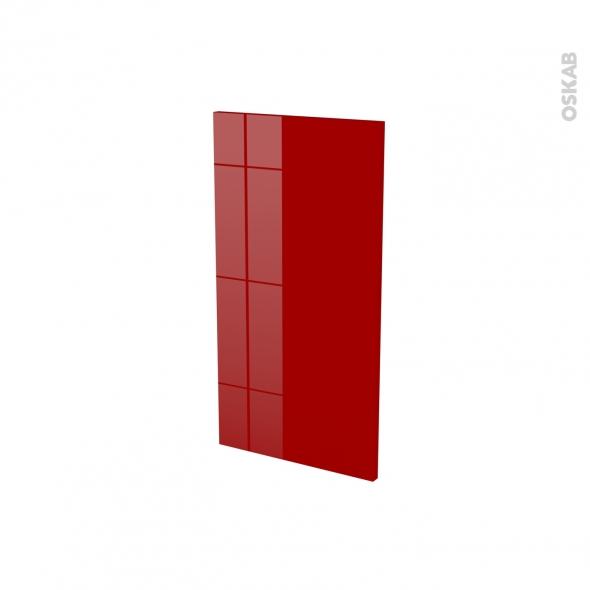 Finition cuisine - Joue N°30 - STECIA Rouge - Avec sachet de fixation - A redécouper - L37 x H35 x Ep.1.6 cm