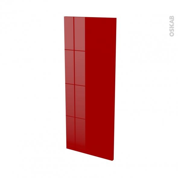 Finition cuisine - Joue N°32 - STECIA Rouge - Avec sachet de fixation - L37 x H92 x Ep.1.6 cm