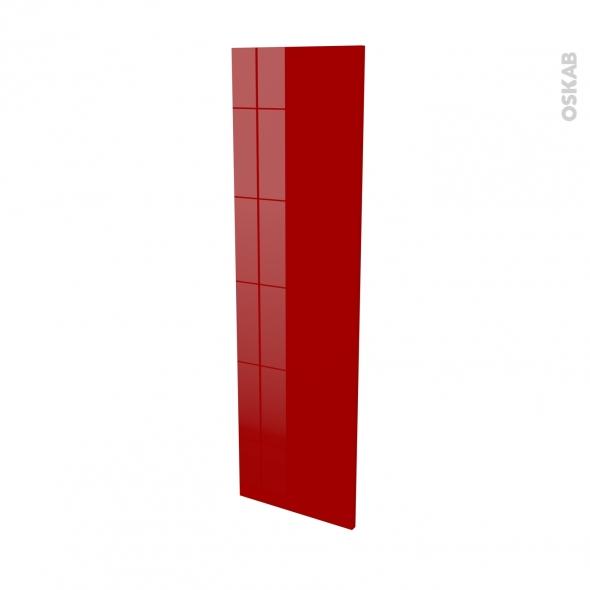 Finition cuisine - Joue N°34 - STECIA Rouge - Avec sachet de fixation - L37 x H125 x Ep.1.6 cm