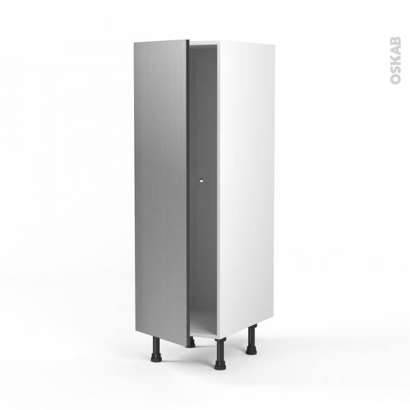 STILO Inox - Armoire étagère N°26  - 1 porte - L40xH125xP58
