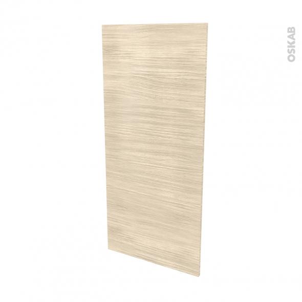 Finition cuisine - Joue N°33 - STILO Noyer Blanchi - Avec sachet de fixation - L58 x H125 x Ep.1.6 cm