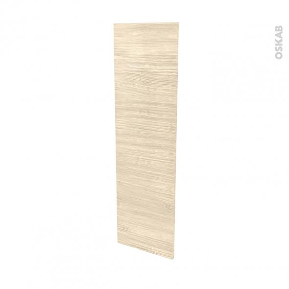 Finition cuisine - Joue N°34 - STILO Noyer Blanchi - Avec sachet de fixation - L37 x H125 x Ep.1.6 cm