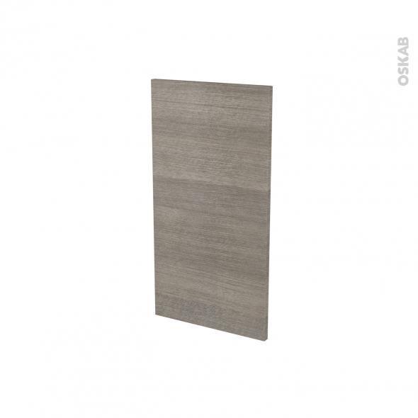 Finition cuisine - Joue N°30 - STILO Noyer Naturel - Avec sachet de fixation - A redécouper - L37 x H35 x Ep.1.6 cm