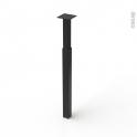 Pied en acier carré - CHIC - réglable de H70 à 110cm - Acier noir - SOKLEO