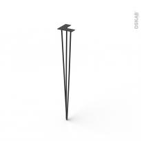 Pied filaire en acier - INDUS - H87cm - Acier noir - HAKEO