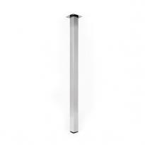 SOKLEO - Pied de Table Carré - Finition inox brossé - Réglable - H110 Ø6