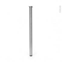 SOKLEO - Pied de Table Rond - Finition inox brossé - Réglable - H110 Ø6