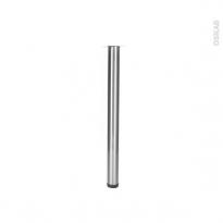 SOKLEO - Pied de Table Rond - Finition inox brossé - Réglable - H70 Ø6
