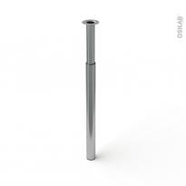 Pied en acier rond - BASIC - réglable de H70 à 110cm - Acier brossé - SOKLEO
