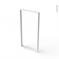 Pied en aluminium U - ARCHI - H85cm / L40cm - blanc - HAKEO
