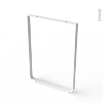 Pied en aluminium U - ARCHI - H85cm / L60cm - blanc - HAKEO