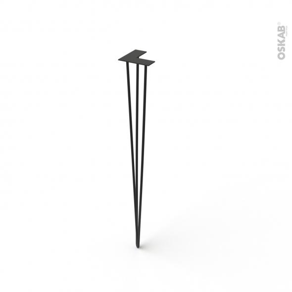 Pied filaire en acier - INDUS - H87cm - Acier noir - SOKLEO