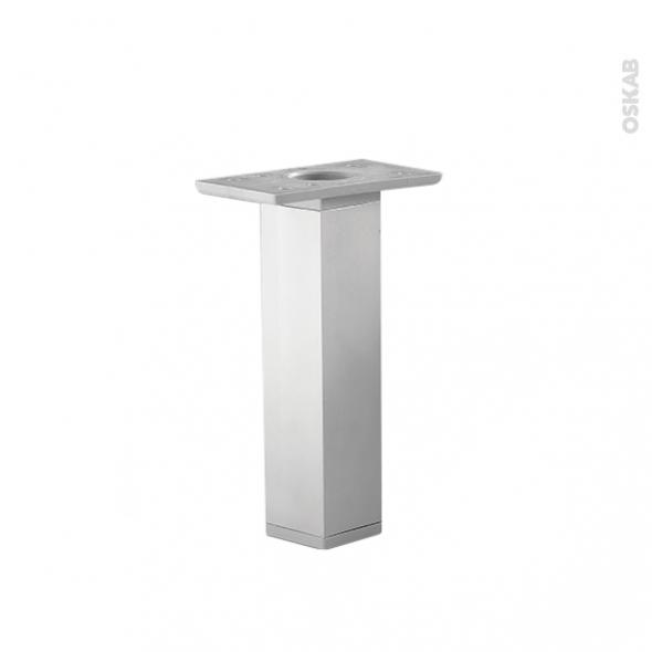 SOKLEO - Lot de 2 pieds carrés - Finition aluminium - H25 cm 3,5x3,5 cm