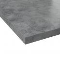 Plan de travail cuisine N°502 - Décor Beton Gris clair - Stratifié - Chant coordonné - L205 x l62 x E3,8 cm - PLANEKO