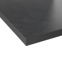 Plan de travail cuisine N°501 - Décor Beton Gris - Stratifié - Chant coordonné - L205 x l62 x E3,8 cm - PLANEKO