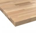 Plan de travail salle de bains N°601 - Chêne Lamelle - Bois massif - L200 x l65 x E3,8 cm - PLANEKO