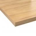 Plan de travail cuisine N°205 - Décor Chêne naturel hosta - Stratifié - Chant coordonné - L205 x l62 x E3,8 cm - PLANEKO