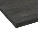 Plan de travail salle de bains N°210 - Décor Chêne noirci - Stratifié - Chant coordonné - L205 x l62 x E3,8 cm - PLANEKO