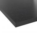 PLANEKO - Plan de travail N°303 - Décor Granit Noir - Chant Granit Noir - L205xl62xE3,8