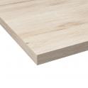 Plan de travail salle de bains N°213 - Décor Chêne clair Ikoro - Stratifié - Chant coordonné - L205 x l62 x E3,8 cm - PLANEKO