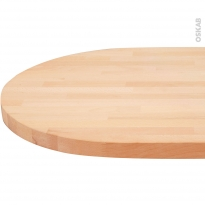 Plan bar N°604 - Hêtre Lamelle - Bois massif - L200 x l65 x E3,8 cm - PLANEKO