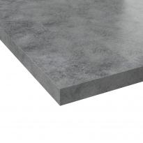 Plan de travail salle de bains N°508 - Décor Béton gris clair - Stratifié - Chant coordonné - L204 x l62 x E3,8 cm - PLANEKO