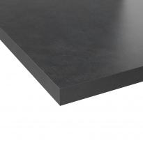Plan de travail salle de bains N°507 - Décor Béton gris - Stratifié - Chant coordonné - L204 x l62 x E3,8 cm - PLANEKO