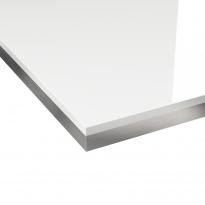 PLANEKO - Chant plan de travail N°33 - Blanc brillant bicolore - L304xl4,5xE0,1cm