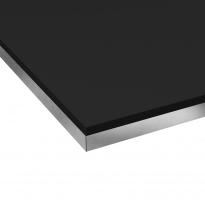 PLANEKO - Plan de travail N°114 - Décor Noir extra mat - Chant Bicolore - L300xl62xE3,8