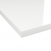 Chant plan de travail - Blanc Brillant N°108 - Bande de chant cuisine - L305 x l4.5 x E0.1 cm - PLANEKO