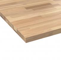 Plan de travail cuisine N°605 - Chêne lamelle - Bois massif - L200 xl65 x E2,6 cm - PLANEKO