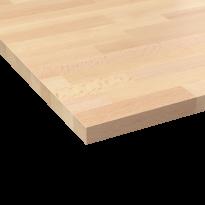 Plan de travail cuisine N°606 - Hêtre lamelle - Bois massif - L200 xl65 x E2,6 cm - PLANEKO