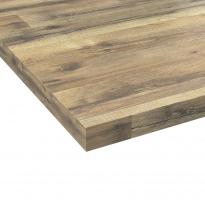 Plan de travail de cuisine N°219 - Décor Chêne authentique - Stratifié - Chant  coordonné - L204 x l62 x E3.8 cm - PLANEKO