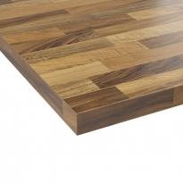 Plan de travail cuisine N°218 - Décor Chêne lamelle - Stratifié - Chant coordonné - L204 x l62 x E3.8 cm - PLANEKO