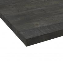 Plan de travail salle de bains N°210 - Décor Chêne noirci - Stratifié - Chant coordonné - L204 x l62 x E3.8 cm - PLANEKO