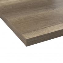 Plan de travail cuisine N°209 - Décor Chêne relief - Stratifié - Chant coordonné - L205 x l62 x E3,8 cm - PLANEKO