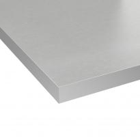 Plan de travail salle de bains N°403 - Décor Gris alu - Stratifié - Chant coordonné - L204 x l62 x E3,8 cm - PLANEKO