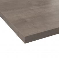 Plan de travail cuisine N°211 - Décor Pin cendré - Stratifié - Chant coordonné - L205 x l62 x E3,8 cm - PLANEKO