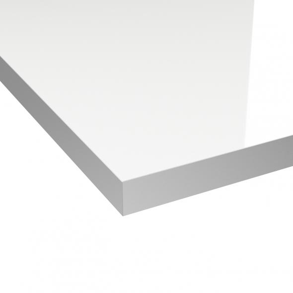 echantillon plan de travail n°107 décor blanc brillant l9xh12.5