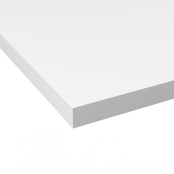 PLANEKO - Plan de travail N°104 - Décor Blanc extra mat - Chant Blanc extra mat - L300xl62xE3,8