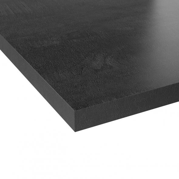Plan de travail cuisine N°207 - Décor Bois grisé scié - Stratifié - Chant coordonné - L300 x l62 x E3,8 cm - PLANEKO