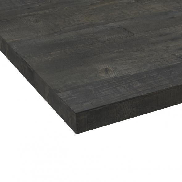 Chant plan de travail - Chêne noirci N°210 - Bande de chant salle de bains - L304 x l4.5 x E0.1 cm - PLANEKO