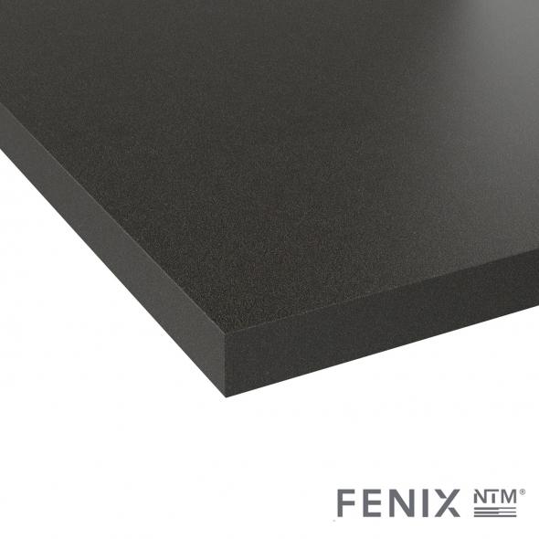 Plan de travail cuisine N°116 - Décor Noir Métal - Stratifié - Chant coordonné - L300 x l62 x E3,8 cm - PLANEKO